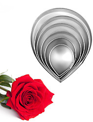 6pcs/set Stainless Steel Rose Flower Cookie Cutters Kitchen Baking Mold Fondant Wedding Cake Decorating Tool