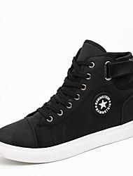 Men's Sneakers Comfort Light Soles Spring Summer Fall Winter PU Walking Shoes Casual Outdoor Buckle Flat Heel White Black Blue Khaki Flat