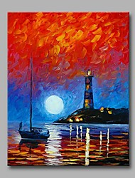Beacon at the end of the World 100% Hand Painted Contemporary Oil Paintings Modern Artwork Wall Art for Room Decoration