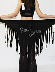 Belly Dance Hip Scarves Women's Performance Polyester Tassel(s) Paillettes 1 Piece Hip Scarf