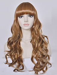 Long Blonde Wavy Wig Synthetic Hair Wigs For Black Women High Temperature Fiber Hair Cosplay Wig