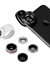 Lente do telefone móvel xax-x da momax 120 ângulo largo 15x macro 180 olhos de peixe lente 2.5x telefoto cpl polarizada externa