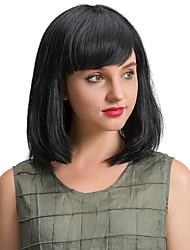 Элегантные красивые черные бобо человеческие волосы парики для женщин