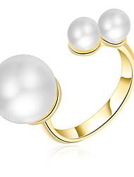 Mulheres Anéis Grossos cuff Anel Imitação de Pérola Básico Amor Sexy Moda Personalizado Estilo bonito Jóias de Luxo Clássico Elegant