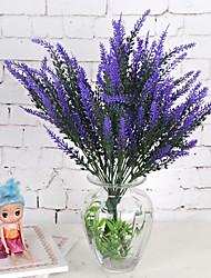 1 Ramo Plástico Plantas Lavanda Flor de Mesa Flores artificiais