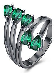 Dámské Midi prsteny imitace Diamond Módní Nerez Slitina Flower Shape Šperky Pro Párty Narozeniny Denní