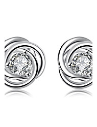 Women's Stud Earrings AAA Cubic Zirconia Basic Gothic Simple Style Classic Fashion Vintage Bohemian Punk Adjustable Personalized Magnetic