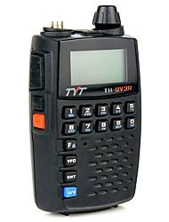 Tyt th-uv3r tamaño de bolsillo de mano de dos vías de radio vhf / uhf de doble banda fm función de radio usb carga scrambler walkie talkie