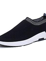 Men's Athletic Shoes Comfort Rubber Spring Fall Outdoor Flat Heel Ruby Light Grey Dark Grey Black Under 1in