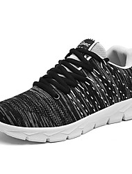Men's Sneakers Light Soles Knit Fall Winter Athletic Casual Outdoor Low Heel Blue Gray Black Under 1in