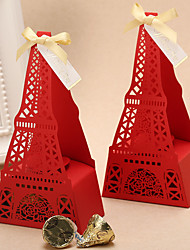 1 Favor Holder-Pyramid Card Paper Pearl Paper Satin Favor Boxes Gift Boxes
