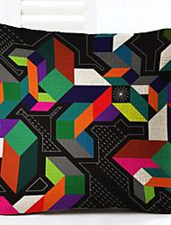 1 pezzi Lino Federa,Fantasia geometrica Moderno/Contemporaneo Modern