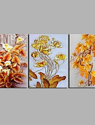 Gilding 3 Panels Hand-painted Oil Paintings on Canvas Modern Artwork Wall Art for Room Decoration 20x28inchx3