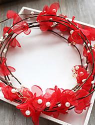 Tulle Basketwork Fabric Silk Net Headpiece-Wedding Special Occasion Birthday Party/ Evening Headbands Flowers 1 Piece