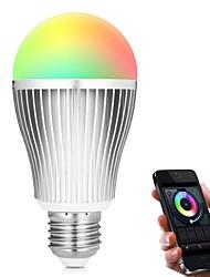 9W Умная LED лампа A60(A19) 18 SMD 5730 900 lm RGB + теплыйИнфракрасный датчик Диммируемая На пульте управления WiFi Контроль APP