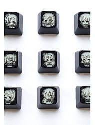 Love live abs translúcido keycap 9 teclas definidas para teclado mecânico