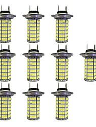 4w h7 120smd2835 lampe antibrouillard pour voiture dc12v blanc 10pcs