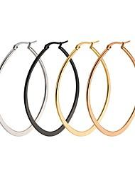 Жен. Серьги-кольца Бижутерия Базовый дизайн бижутерия Нержавеющая сталь Овальной формы Бижутерия Назначение Свадьба Для вечеринок Для