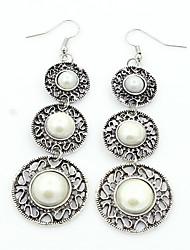 Femme Boucles d'oreille goutte Perle imitée Sexy Mode Personnalisé Imitation de perle Forme de Cercle Bijoux PourSoirée Rendez-vous