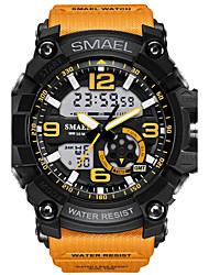 Муж. Спортивные часы Модные часы электронные часы Наручные часы Цифровой LED Защита от влаги С двумя часовыми поясами тревога Светящийся