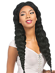 Огромный Косы в технике Кроше Афро Вязание крючком с человеческими волосами 100% волосы канеколонВино Синий Зеленый Желтый Средний