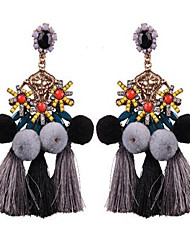 Women's Drop Earrings Tassel Vintage Oversized Fashion Alloy Geometric Ball Jewelry For Casual Stage Going out