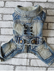 Dog Denim Jacket/Jeans Jacket Dog Clothes Casual/Daily Jeans Blue