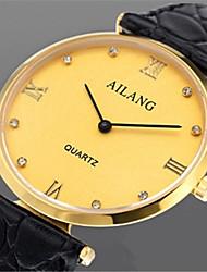 Муж. Модные часы Кварцевый Кожа Группа Черный