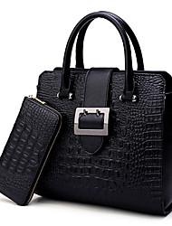 Damen Bag Sets PU Ganzjährig Normal Baguette Bag Reißverschluss Blau Schwarz Wein