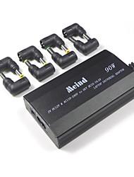 Adaptador de laptop universal 505s-90w linha de conexão de 3 furos com 8 conectores uso duplo no carro e na casa