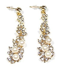 Women's Stud Earrings Imitation Pearl Rhinestone Sexy Oversized Fashion Alloy Flower Jewelry For Party Daily Formal