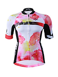 Cycling Jersey Women's Short Sleeves Bike Jersey Fast Dry Quick Dry YKK Zipper High Elasticity Stretchy Polyester Fashion Summer Mountain