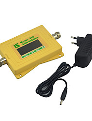 Mini pantalla inteligente gsm 900mhz señal de teléfono móvil impulsor 2g gsm980 repetidor de señal con fuente de alimentación 5v amarillo