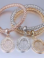Femme Charmes pour Bracelets Strass Mode Alliage Forme Ovale Bijoux Pour Décontracté