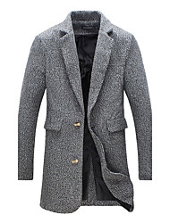 Men's Plus Size Fashion Slim High Quality Single Breasted Woolen Coat