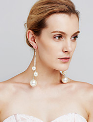 Women's Drop Earrings Imitation Pearl Sexy Movie Jewelry Euramerican Fashion Personalized Luxury Statement Jewelry Copper Circle Jewelry