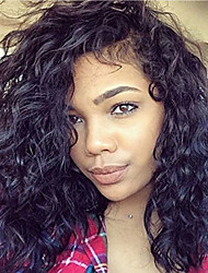 Water Wave With Baby Hair Glueless Lace Front Wigs Indian Human Hair Cheap On Sale For Black Women