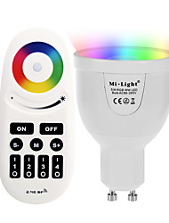 GU10 5W 2.4GHz RGB Warm White Stepless Dimming Phone-Wifi Control Wireless Remote Control Smart Bulb Lighting AC85 - 265V with Remote Control