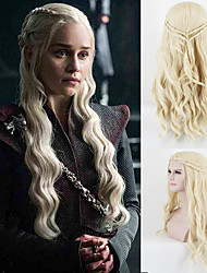 Dany Dragon Mother Loose Wave Light Blonde Braided Synthetic Cosplay Wigs