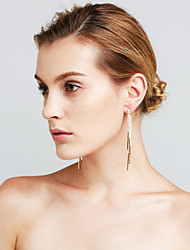 Women's Earrings Set Imitation Diamond Pendant Sexy Movie Jewelry Euramerican Fashion Luxury Statement Jewelry Copper Line Jewelry For