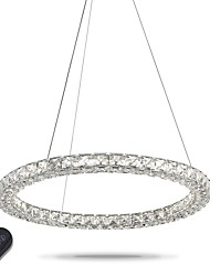 Modern Ring Crystal Pendant Lights LED Crystal Chandeliers Ceiling Light Indoor Lamps Fixtures Dimmable with Remote Control