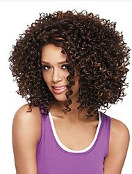 Heat Resistant Synthetic Wigs Curly Hair Black Root Grey Color Synthetic Fiber Hair Wig