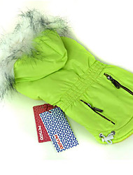 Dog Coat Hoodie Dog Clothes Casual/Daily Solid Blue Green Ruby Fuchsia Purple