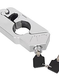 Universal Motorcycle Handlebar Brake Lever Anti-theft Lock w 2 Keys Gold Tone