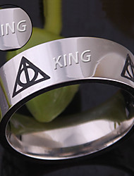 The Deathly Hallows triangle the Hallows stainless steel ring and hot Deathly