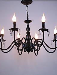 Европейский стиль кристалл свеча лампа гостиная лампа столовая спальня магазин одежды лампы и фонари украшение проект droplight