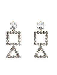 Women's Drop Earrings Hoop Earrings Rhinestone Fashion Personalized Glass Imitation Diamond Alloy Geometric Jewelry ForDaily Casual Going