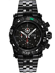 Men's Fashion Watch Quartz Stainless Steel Band Casual Black White Silver Gold
