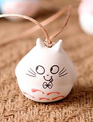 Saco / telefone / chaveiro charme gato jingle bell cartoon brinquedo cerâmica