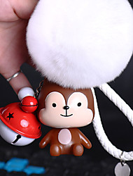 Bag / Phone / Keychain Charm Cute Jingle Bell Cartoon Toy Fur Ball Phone Strap PVC